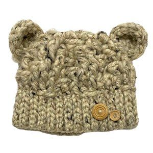 Chunky Hand Knit Teddy Bear Toque Hat